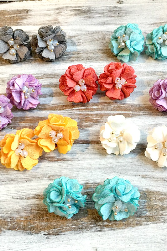 Flower Post Earrings - Choose Color