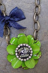 Go Hawks Flower - This Girl Chunky Chain