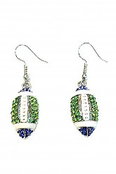 Seahawks Football Earrings