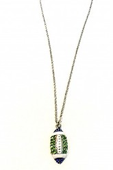 Seahawks Football Necklace