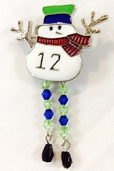 12 Snowman Necklace
