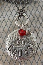 Go Cougs! Round Pendant Necklace