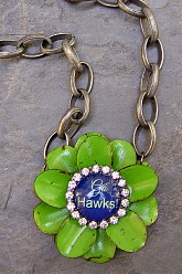 Go Hawks Flower - Original Chunky Chain