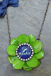 Go Hawks Flower - Original