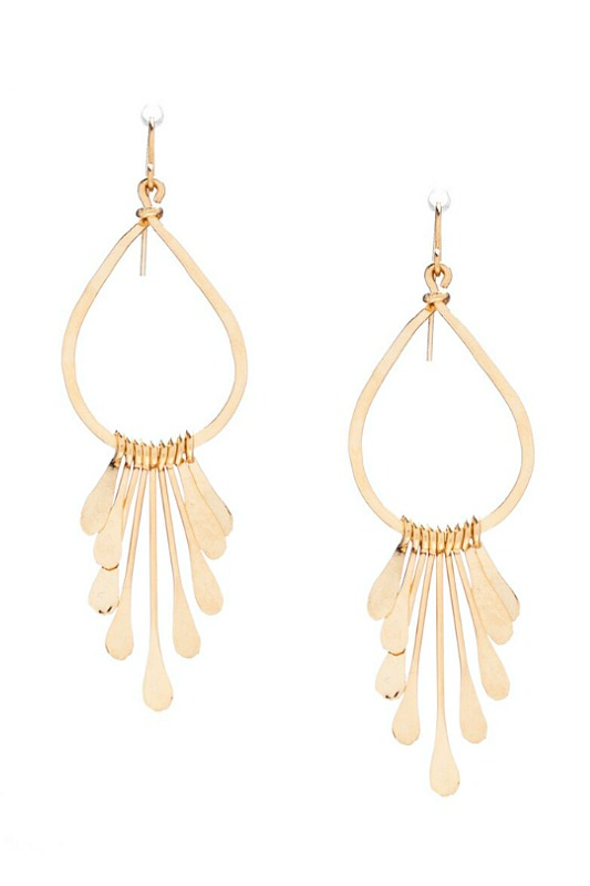 Handmade Gold Bohemian Dangle Earrings