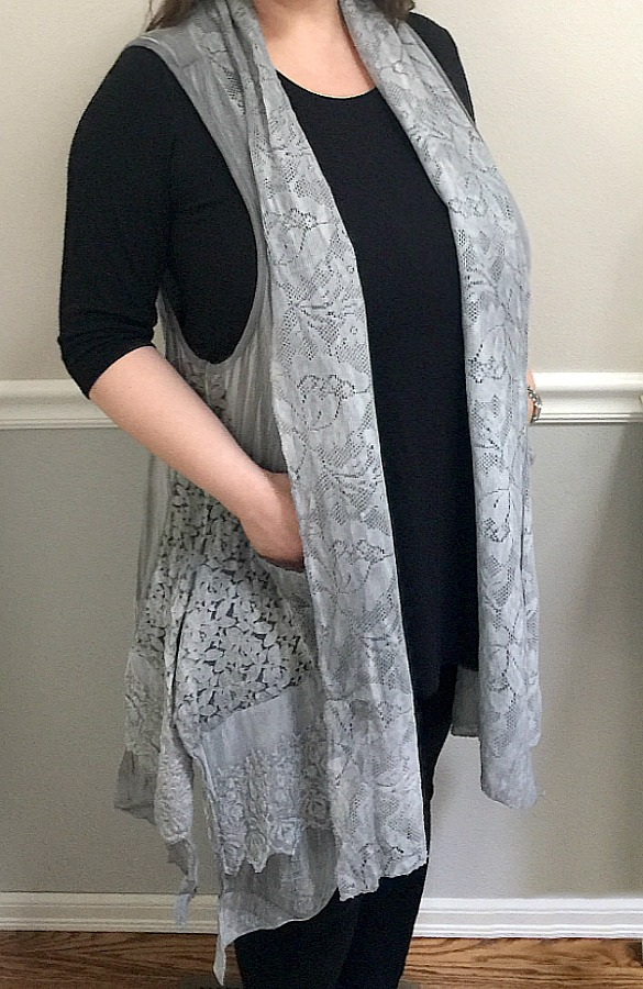 Destined For Greatness Lace Accent Vest - Grey
