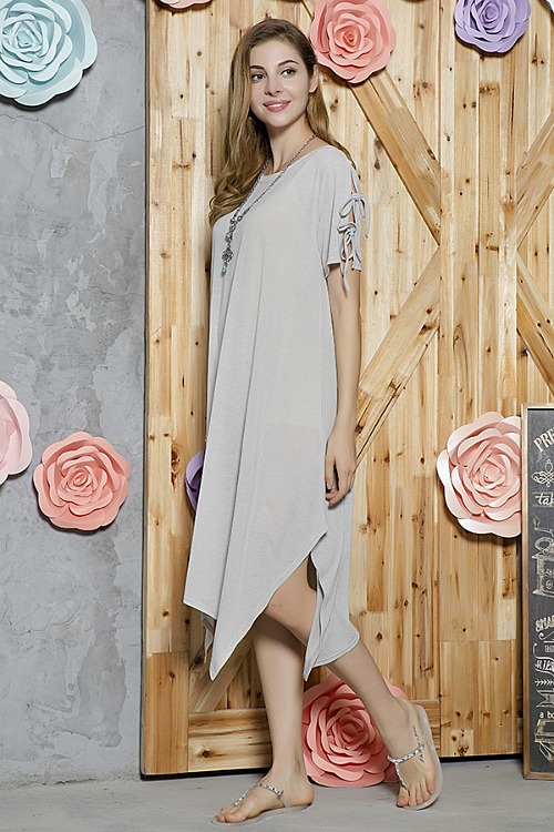 Essential Style Tunic Dress - Grey