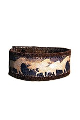 Vegan Leather Cuff - Run Free