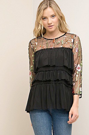 Jessica Tiered Top