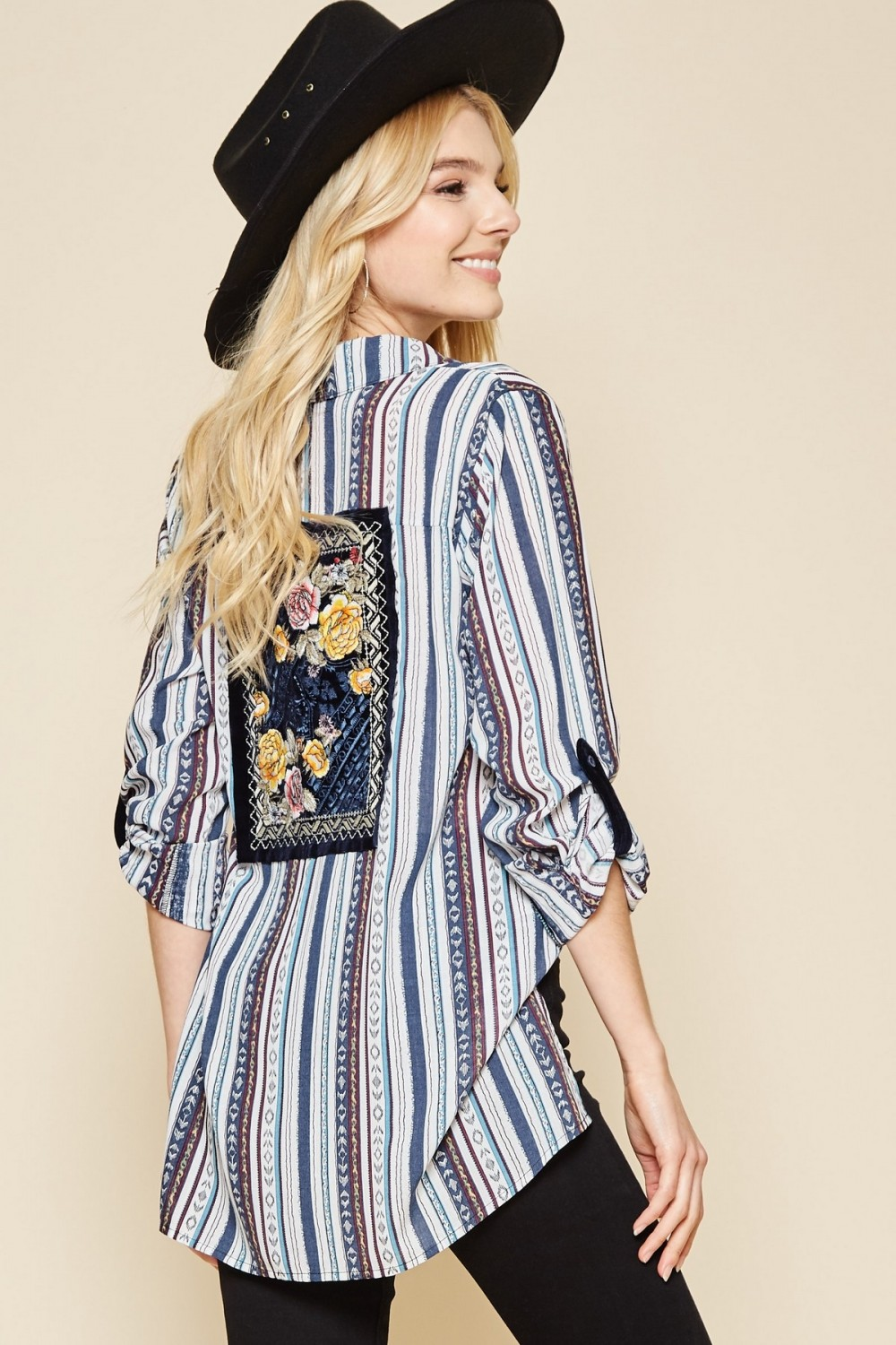 Western Daze Striped Blouse