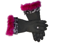Diva Dish Gloves� Kitchen Chic! - Gray & Plum-sexy, diva dish gloves, plum marabou