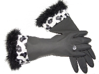 Diva Dish Gloves� Kitchen Chic! - Black & White