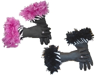 Diva Dish Gloves� Kitschy Kitschy Ya Ya!  Zebra-novelty, diva dish gloves, laugh out loud, peek a boo, zebra cuff, flufy feather boa, pretty jewel