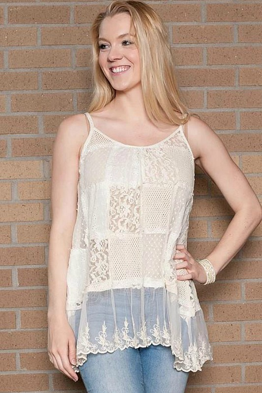 Paper Lace Patchwork Cami