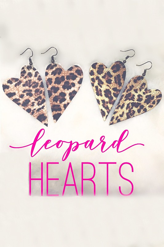 Leopard Hearts Earrings