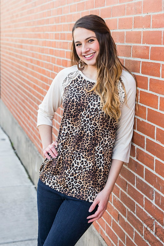 Let's Mix Things Up Leopard and Lace Raglan