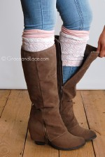 London Lace Boot Cuffs - Blush