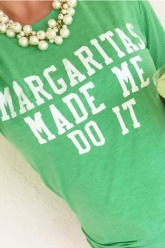 Plus Size Margaritas Made Me Do It T Shirt