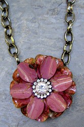 Large Flower Necklace - Marsala