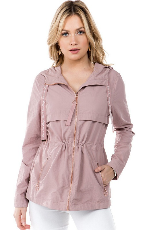 Anorak Hooded Jacket - Mauve