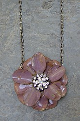 Flower Necklace - Mauve