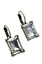 Old Hollywood Glam Earrings - Clear