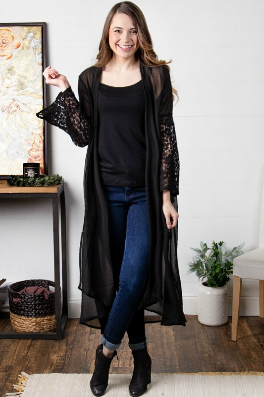 Out On The Town Kimono Duster