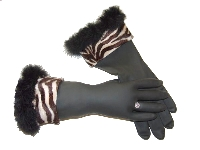 Diva Dish Gloves� Pimp My Kitchen!  Brown Zebra-zebra print, marabou accent, diva dish gloves, best gifts