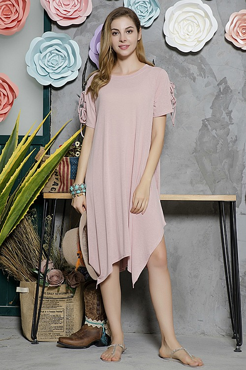Essential Style Tunic Dress - Pink
