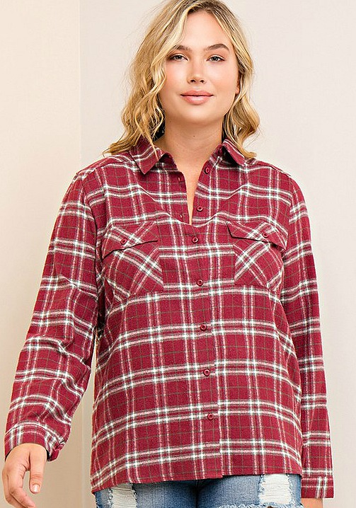 Plus Size Checkmate Shirt