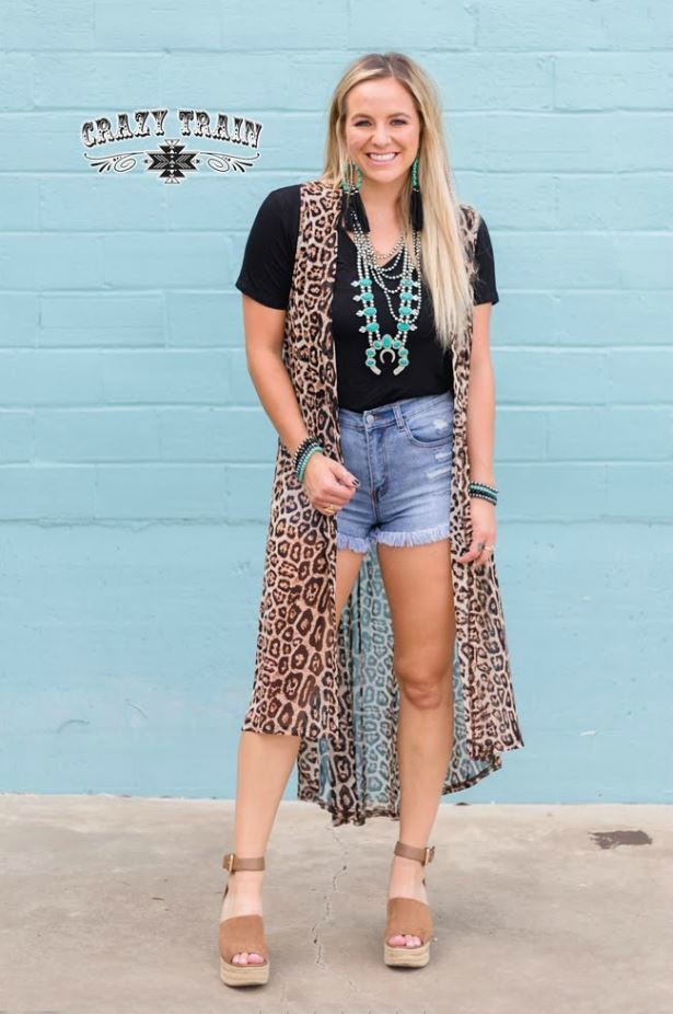 Que Paso Leopard Duster Vest by Crazy Train