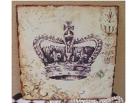 Wall Plaque -Royal Crown Print-metal wall plaque, crown print