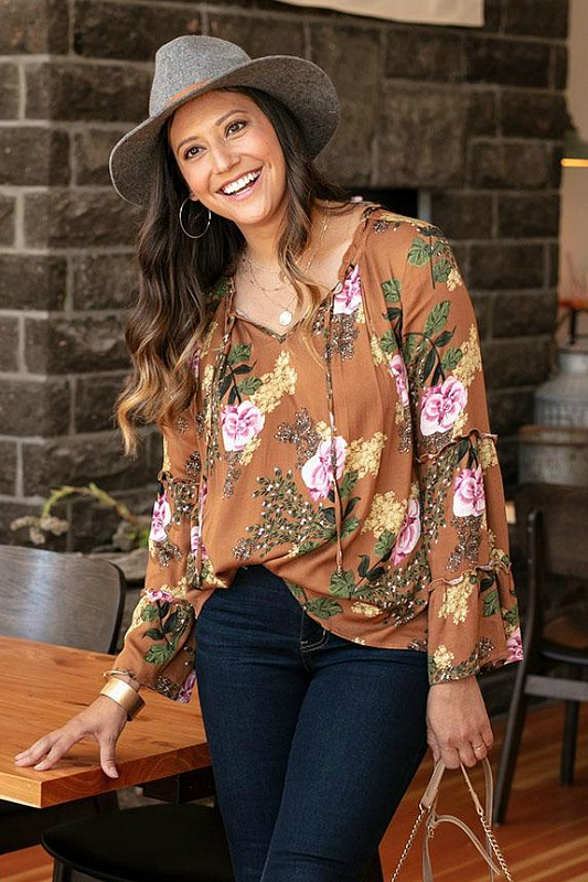 Floral Sable Top by Grace and Lace