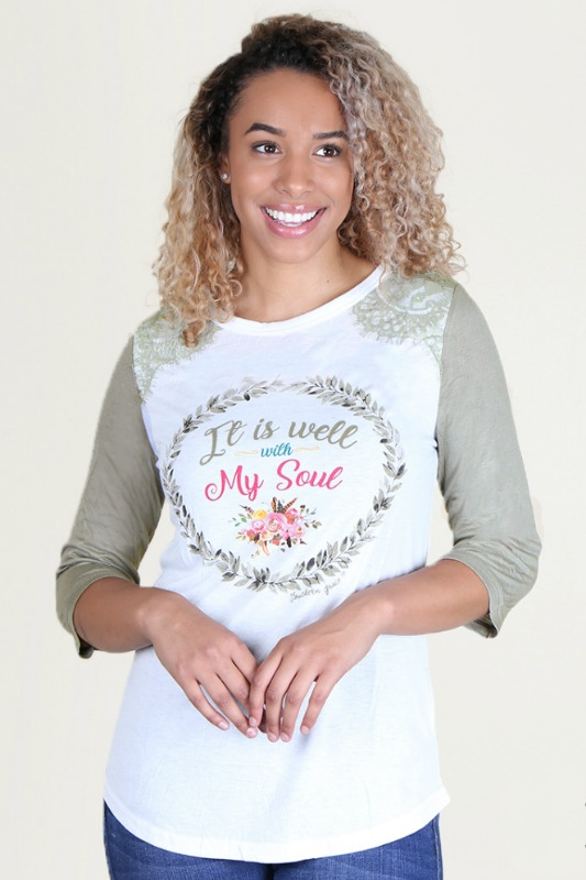 Plus Size It Is Well With My Soul Raglan
