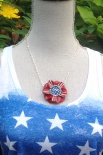 Stars and Stripes Forever Flower Necklace