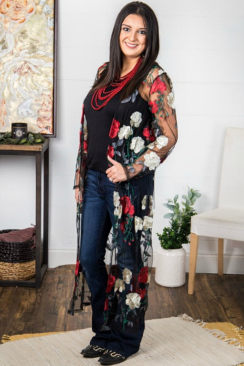 Sugarfoot Floral Duster