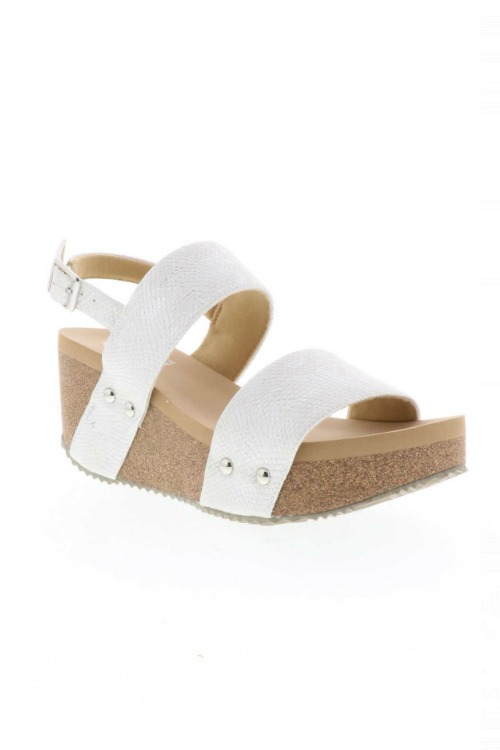 SummerLove Wedge Sandal - White