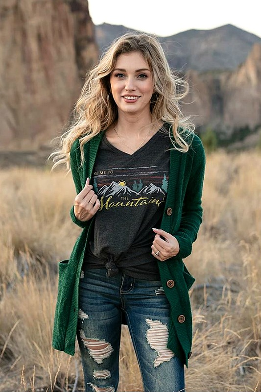 Grace & Lace Take Me To The Mountains Graphic Tee