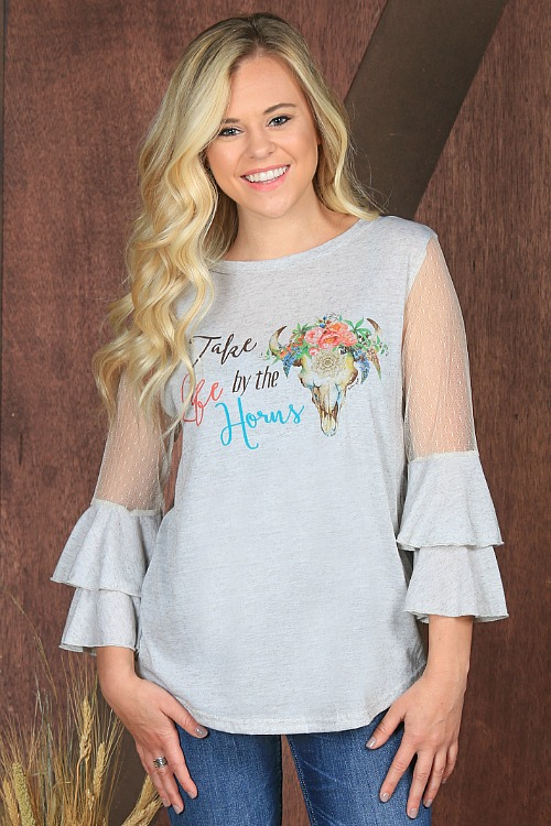 Plus Size Take Life By The Horns Top