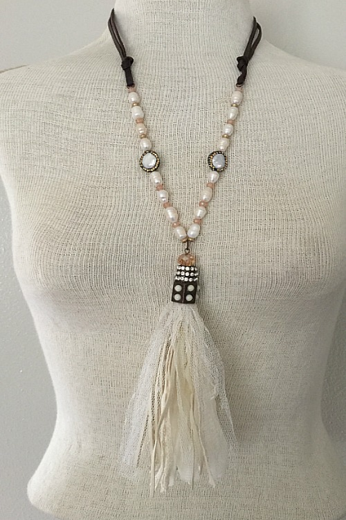Graceful - Fabric Tassel Necklace