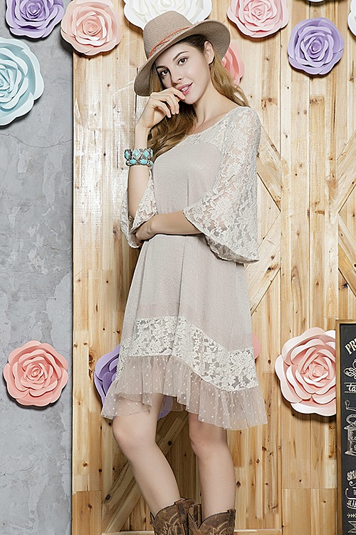 Anything Is Possible Taupe Tunic