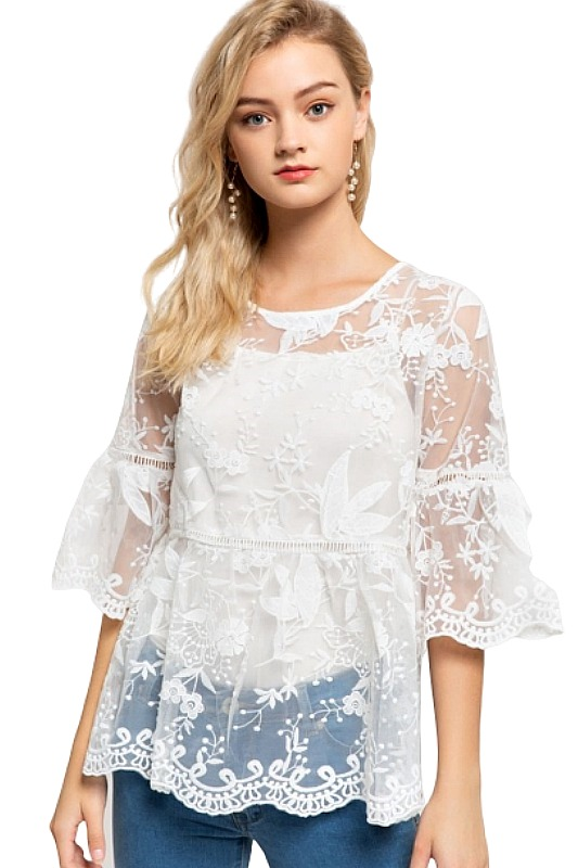 Marry Me Lace Top - Ivory