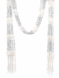 Scarf Necklace - White-unique scarf, scarf necklace, instant glamour, latest accessory