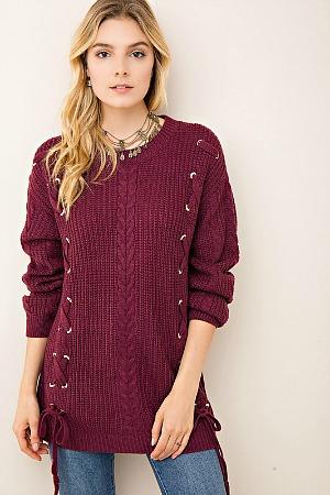 Cozy Up With Me Wine Sweater